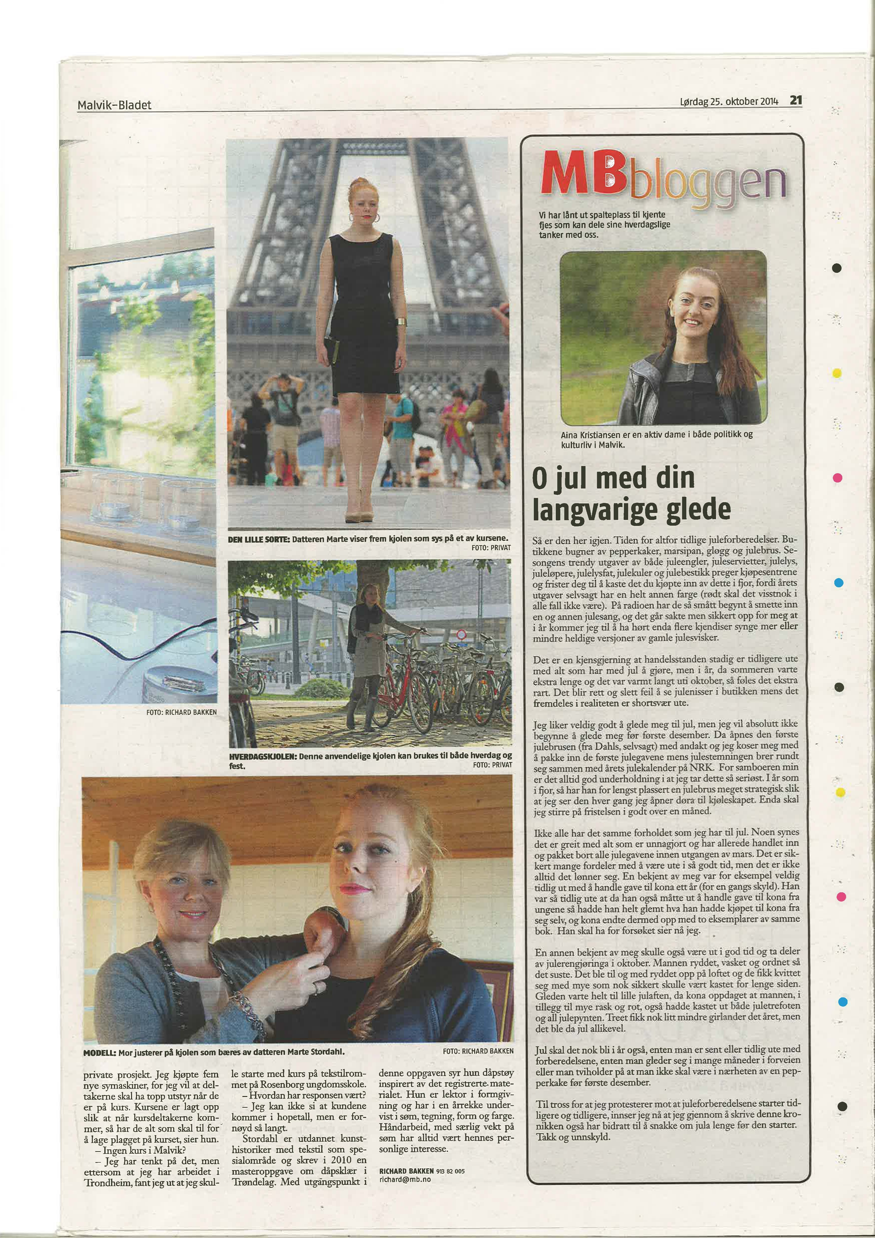 Malvikbladet 25.10.14 side2